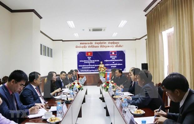 Intensifican Vietnam y Laos cooperacion en asuntos etnicos hinh anh 1