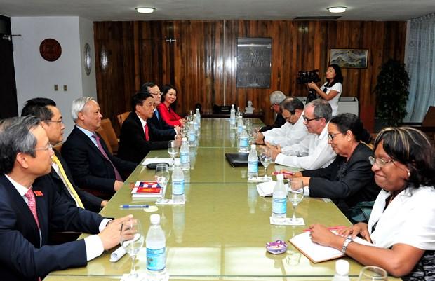 Parlamentos vietnamita y cubano reiteran disposicion de fortalecer cooperacion hinh anh 6