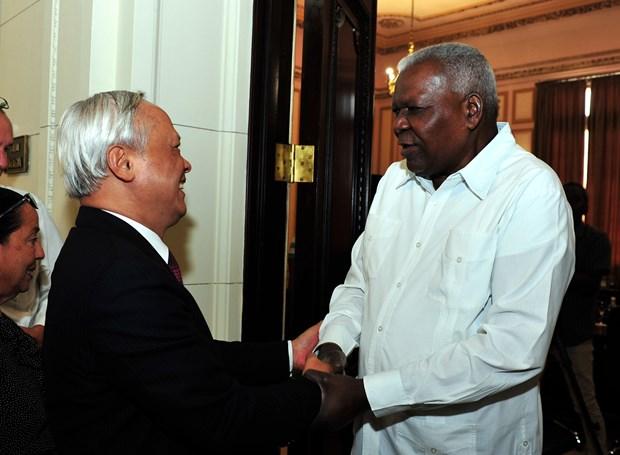Parlamentos vietnamita y cubano reiteran disposicion de fortalecer cooperacion hinh anh 1