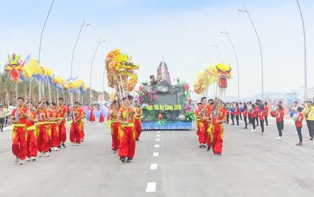 Desfile de carros alegoricos marca inicio al Carnaval de Ha Long hinh anh 1