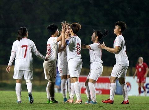 Seleccion femenina sub-19 de Vietnam se clasifica al Campeonato de Futbol Asiatico hinh anh 1