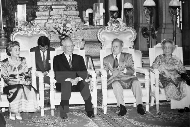 Resaltan papel de expresidente vietnamita Le Duc Anh a lucha contra regimen genocida en Camboya hinh anh 1