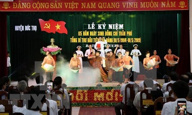 Hanoi conmemora 115 anos del natalicio del exsecretario general del PCV Tran Phu hinh anh 1
