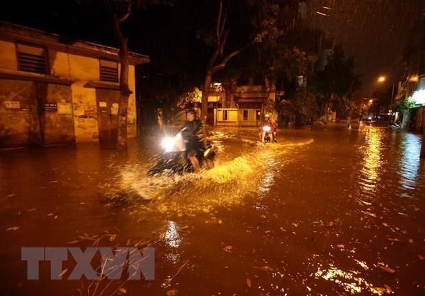 Implementaran en Hanoi aplicacion movil para advertencia de inundaciones hinh anh 1