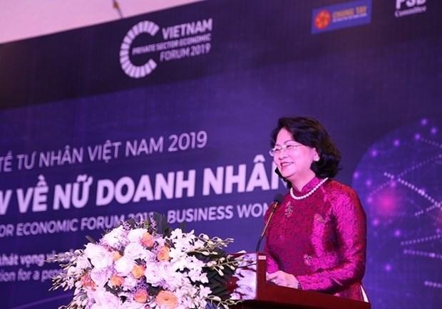 Vicepresidenta de Vietnam reitera prioridad de crear condiciones favorables para empresarias hinh anh 1