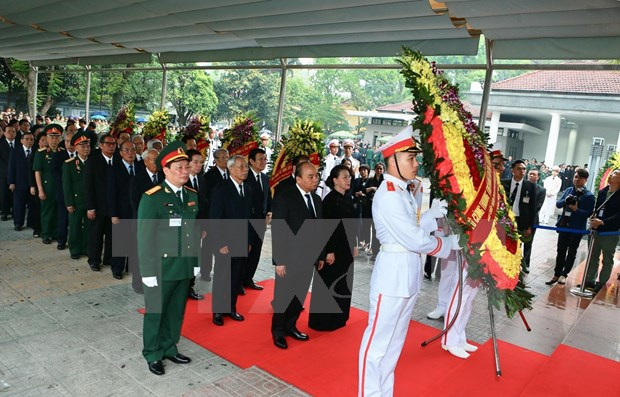 Efectuan ceremonia funebre en memoria del expresidente Le Duc Anh hinh anh 1