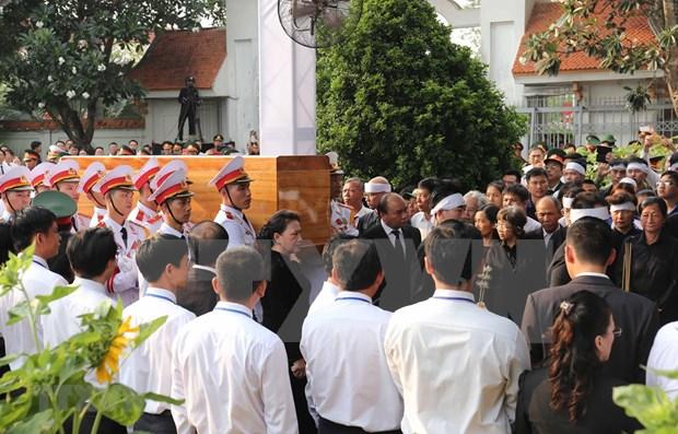 Descansa expresidente vietnamita Le Duc Anh en cementerio de Ciudad Ho Chi Minh hinh anh 1