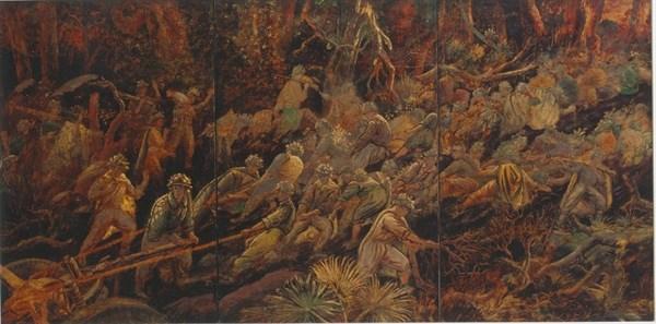 La historica victoria de Dien Bien Phu a traves de pinturas hinh anh 1