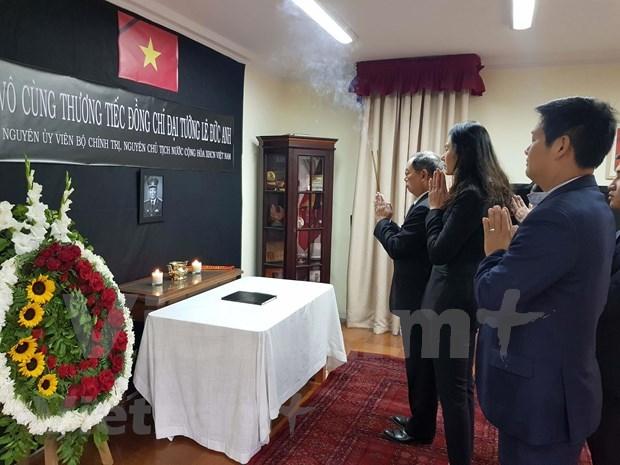 Rinde tributo al expresidente vietnamita Le Duc Anh en Chile hinh anh 1