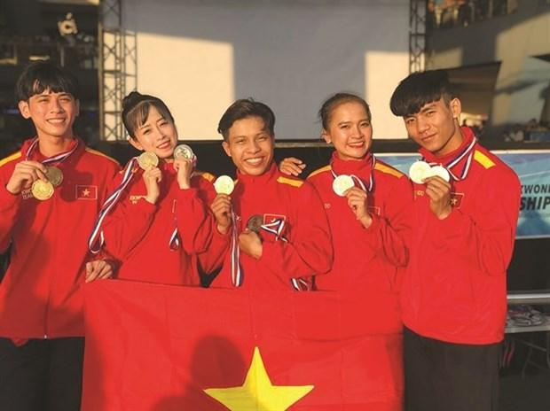 Gana Vietnam 72 medallas en el Campeonato de Taekwondo del Sudeste Asiatico hinh anh 1