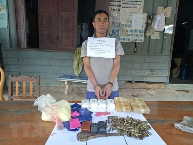 Policia vietnamita arresta a un narcotraficante laosiano hinh anh 1