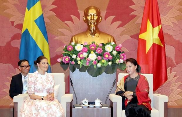 Resalta presidenta del Parlamento de Vietnam la amistad de medio siglo con Suecia hinh anh 1