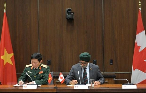 Fomentan Vietnam y Canada relaciones en defensa hinh anh 1