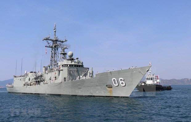 Realizan buques de guerra australianos visita de buena voluntad a Vietnam hinh anh 1