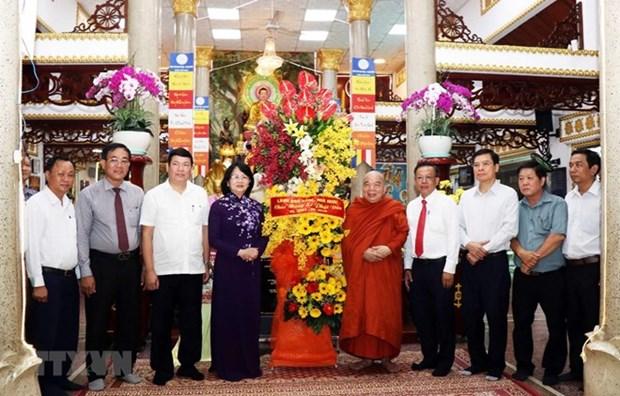 Vicepresidenta vietnamita elogia contribucion de budistas a la construccion nacional hinh anh 1
