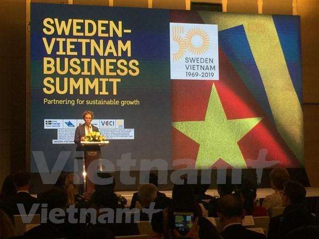 Efectuan en Hanoi conferencia empresarial Vietnam-Suecia hinh anh 1