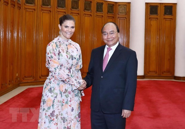 Recibe premier vietnamita a la princesa heredera de Suecia hinh anh 1