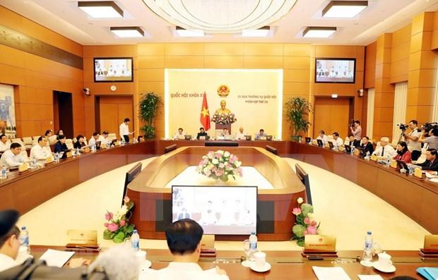 Presidenta del Parlamento de Vietnam preside sesion 34 del Comite Permanente hinh anh 1