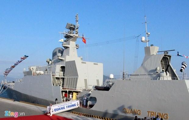 Asiste buque de la Armada de Vietnam a ejercicios maritimos multinacionales en Singapur hinh anh 1