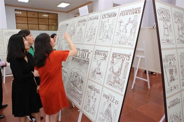Exponen en Vietnam dibujos sobre civilizacion incaica de Peru hinh anh 1
