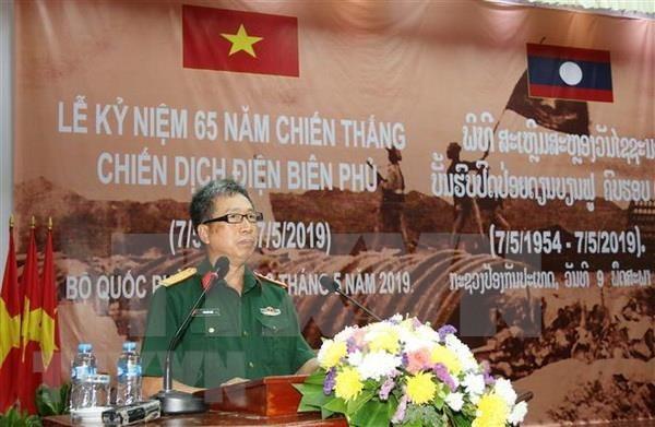 Celebran en Laos acto por aniversario 65 de la victoria de Dien Bien Phu hinh anh 1
