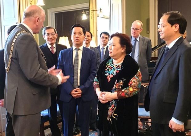 Promueve Hanoi cooperacion con Irlanda y Reino Unido hinh anh 1
