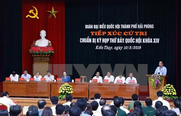 Valora primer ministro de Vietnam desarrollo socioeconomico de ciudad de Hai Phong hinh anh 1