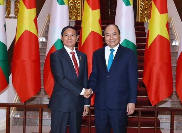 Planean Vietnam y Myanmar ampliar cooperacion en sectores potenciales hinh anh 1