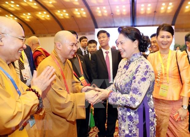 Ofrecen en Vietnam banquete de bienvenida a delegados internacionales en Dia de Vesak de Naciones Unidas hinh anh 1