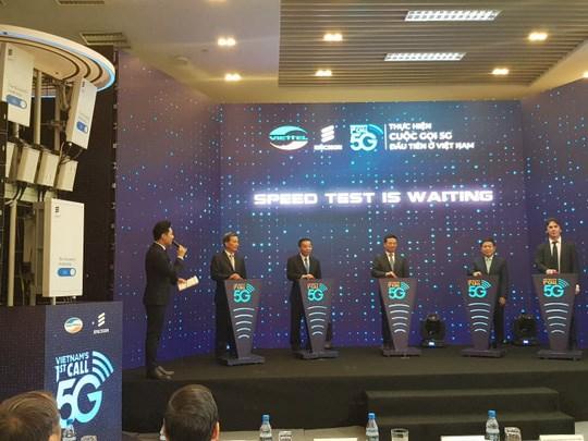 Realiza grupo vietnamita Viettel primera llamada telefonica de 5G hinh anh 1