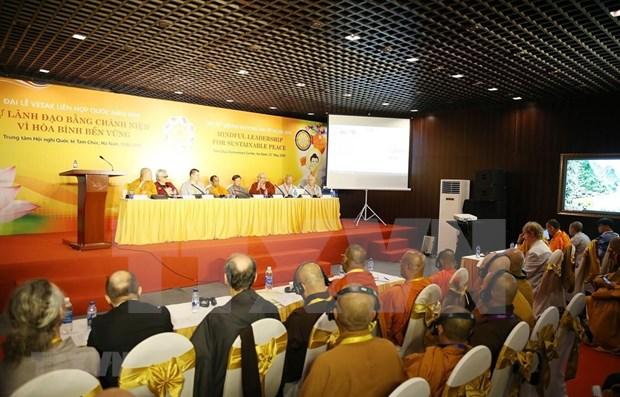 Realizan durante Dia de Vesak-2019 en Vietnam un seminario sobre liderazgo por la paz sostenible hinh anh 1