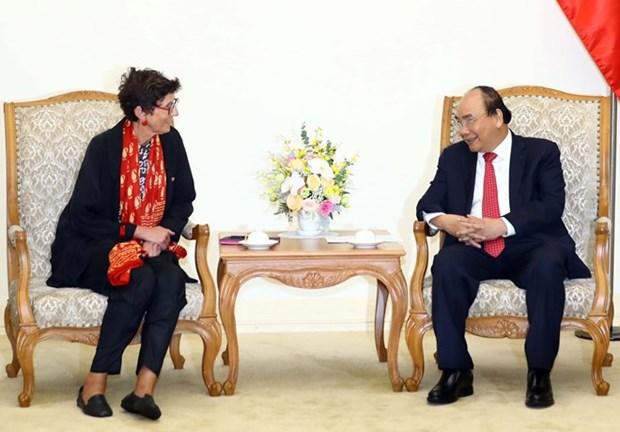 Premier vietnamita recibe a embajadora de Noruega hinh anh 1