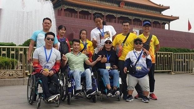 Vietnam brilla en el Gran Premio Mundial de Atletismo Paralimpico 2019 en China hinh anh 1