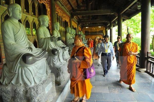 Delegados al Dia de Vesak en Vietnam visitan provincia de Ninh Binh hinh anh 1