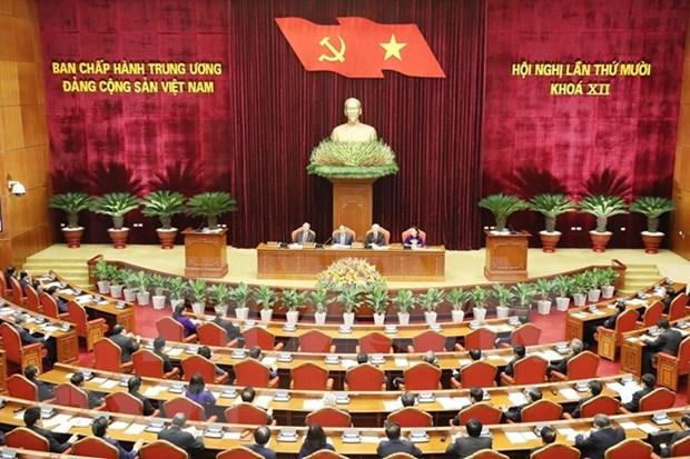 Inauguran el decimo pleno del Comite Central del Partido Comunista de Vietnam hinh anh 1