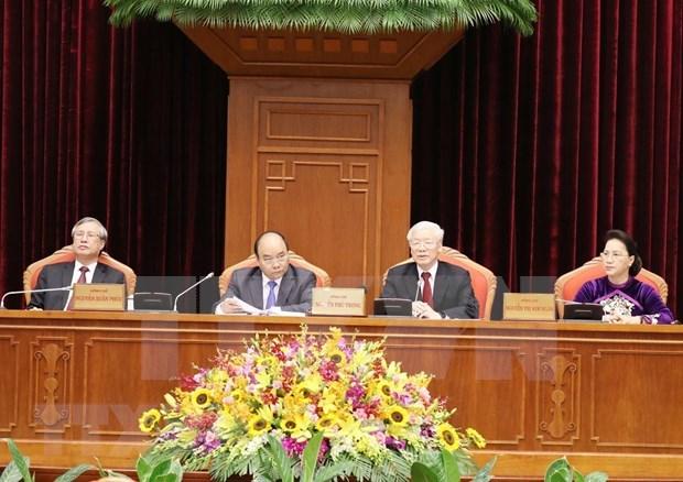 Concluye decimo pleno del Comite Central del PCV segunda jornada de trabajo hinh anh 1