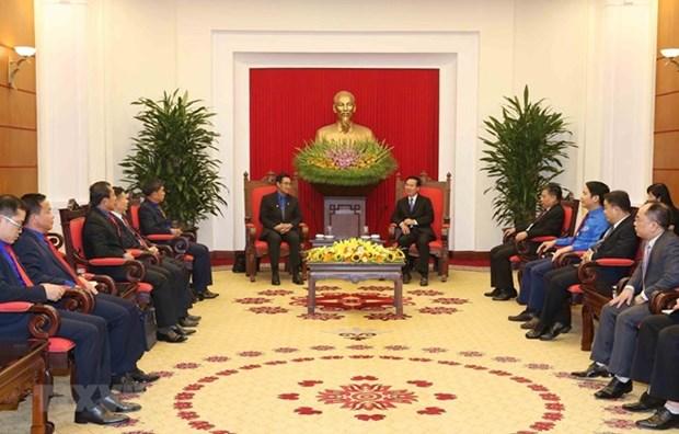 Promueven intercambio juvenil entre Vietnam y Laos hinh anh 1