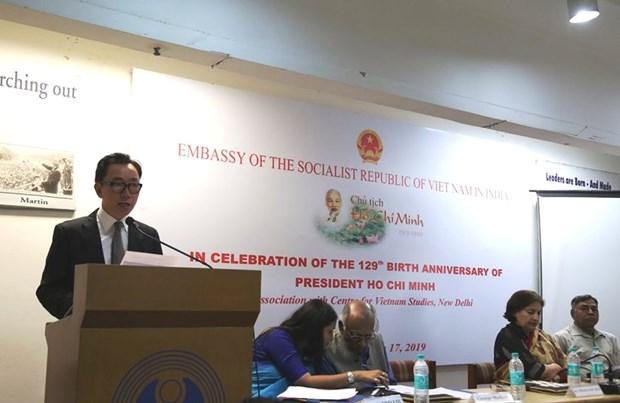 Conmemoran en la India aniversario 129 del natalicio de Presidente Ho Chi Minh hinh anh 1