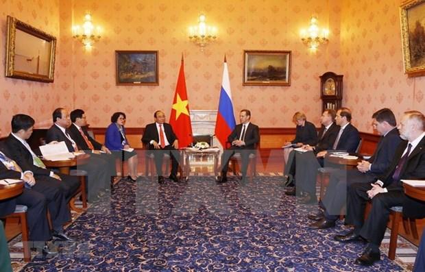 Visita del primer ministro vietnamita a Rusia ratifica importancia de los nexos bilaterales hinh anh 1