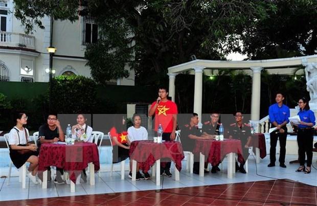 Jovenes vietnamitas en Cuba comprometidos a seguir camino del Tio Ho hinh anh 1