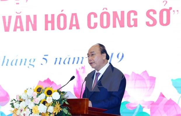 Premier vietnamita lanza movimiento de promocion de cultura en oficinas publicas hinh anh 1
