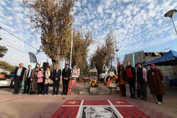 Conmemora 129 aniversario de natalicio de Presidente Ho Chi Minh en Chile hinh anh 1