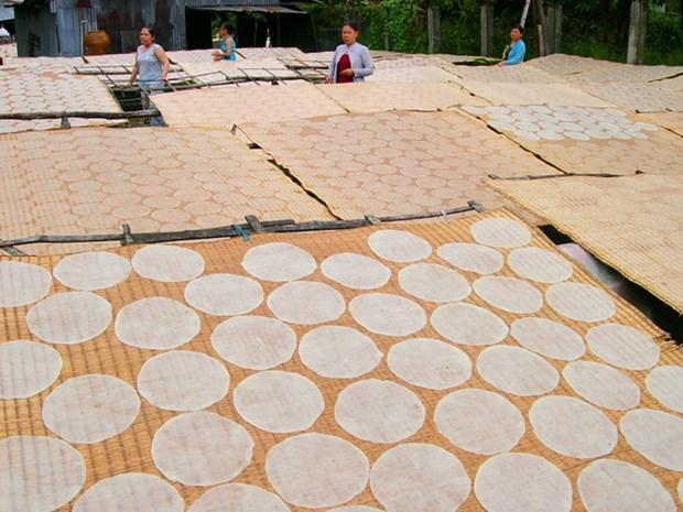 Aldea de papeles de arroz en Delta del rio Mekong en Vietnam hinh anh 1