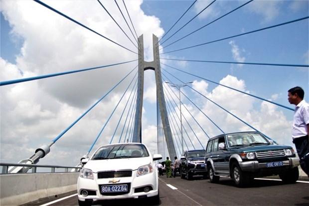 Inaugura en Vietnam puente Vam Cong en el Delta del Mekong hinh anh 1
