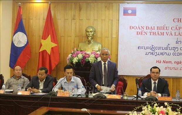 Localidades de Vietnam y Laos robustecen cooperacion hinh anh 1