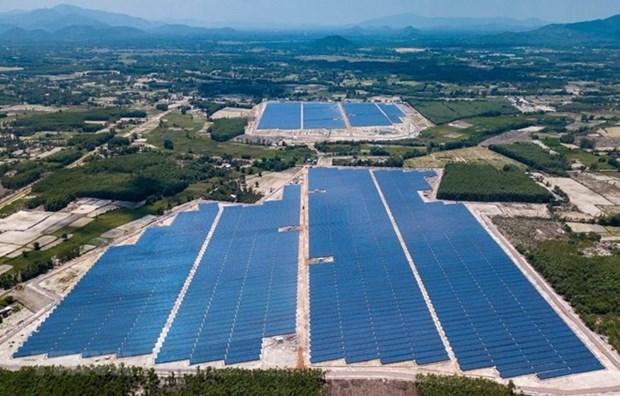 Planta fotovoltaica de provincia vietnamita conecta a la red nacional de electricidad hinh anh 1