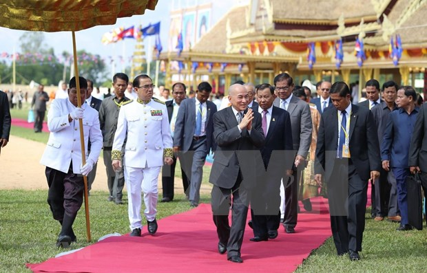 Tradicional ceremonia de Arado Real marca inicio de nueva cosecha en Camboya hinh anh 1