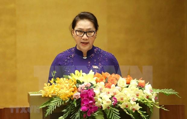 Propone maxima legisladora vietnamita impulsar reestructuracion de la economia nacional hinh anh 1