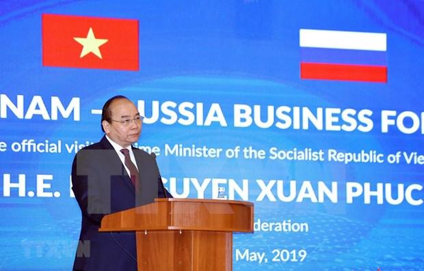 Premier vietnamita asiste al Foro Empresarial Vietnam-Rusia hinh anh 1