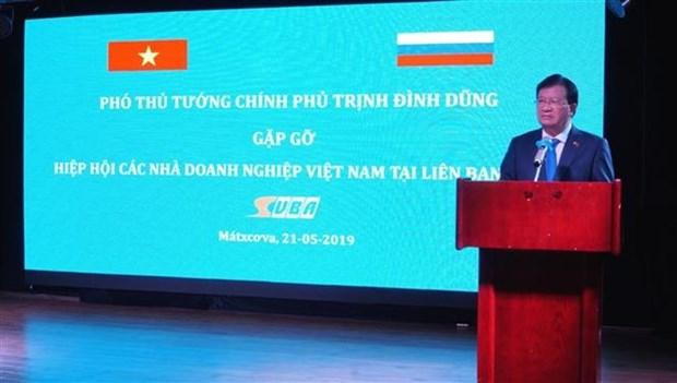 Vicepremier vietnamita se reunio con empresarios de su pais radicados en Rusia hinh anh 1